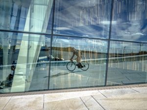 Cycling on the Oslo Operahuset