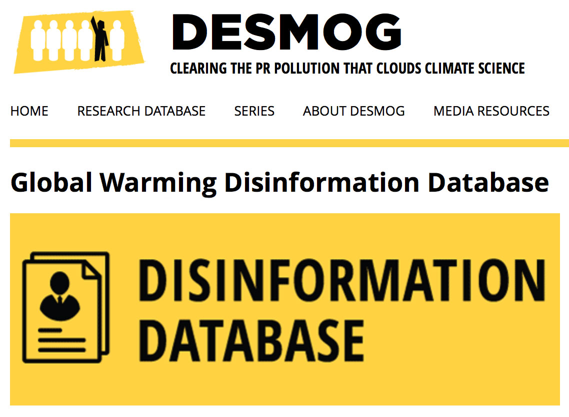 Global Warming Disinformation Database