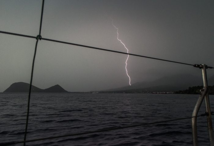 A thunderstorm in Dominica